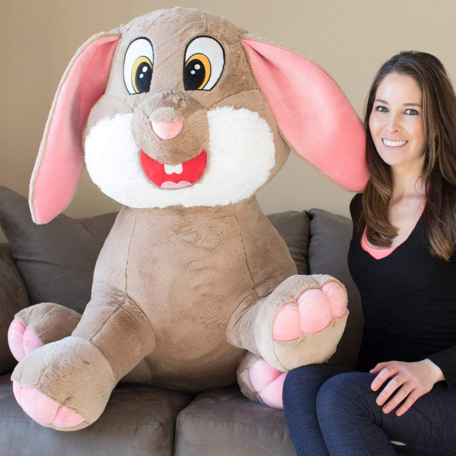 Yesbears 50'' Inches Giant Bunny Stuffed Animal Ultra Soft (Love Pillow Included)
