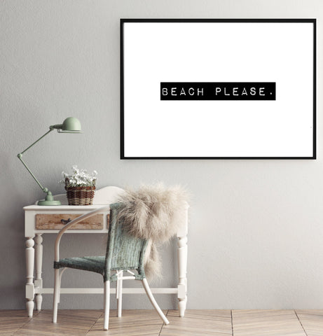 Beach Please Wandbild