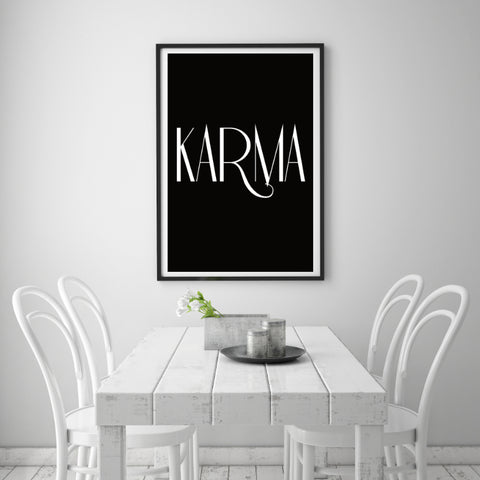 Inspirationsposter Karma