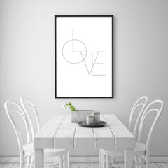 Liebesposter Love Design