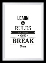 Break the rules Poster