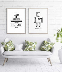 Break the rules Motivationsposter