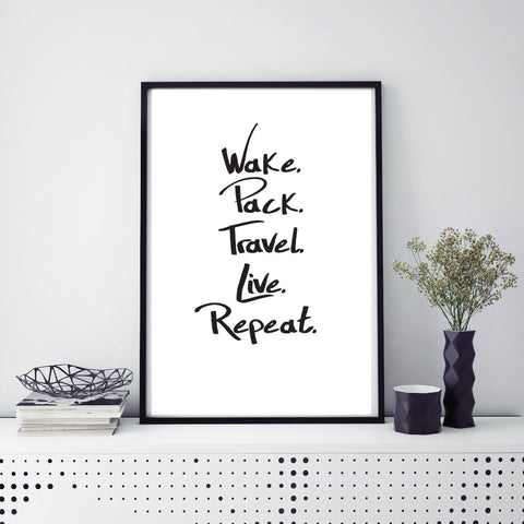 travel live repeat Reiseposter