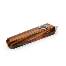 Natural Tiger Eye Point Crystal Pipe