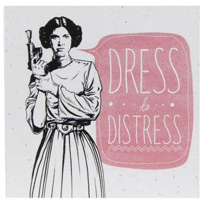Dress To Distress Princess Leia - Greetings Card