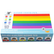 Gay Pride Rainbow Peelable Glass Paint x 6 Colours Set