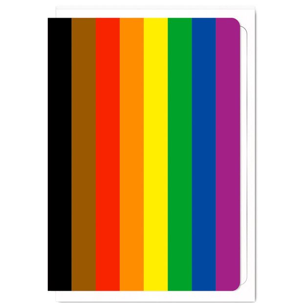 8 Colour POC (People Of Colour) Pride Flag  - Greetings Card