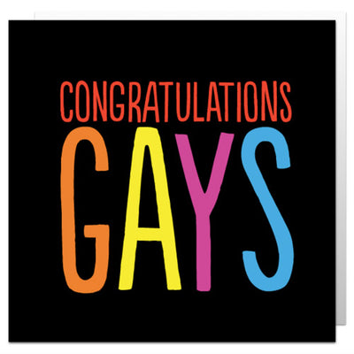 Congratulations Gays - Gay Wedding Card
