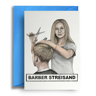 Barber Streisand - Greetings Card