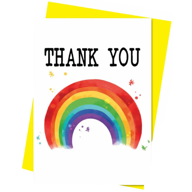 Rainbow Thank You - Gay Greetings Card