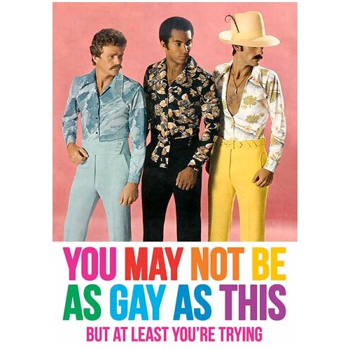 You May Not Be As Gay As This - Birthday Card