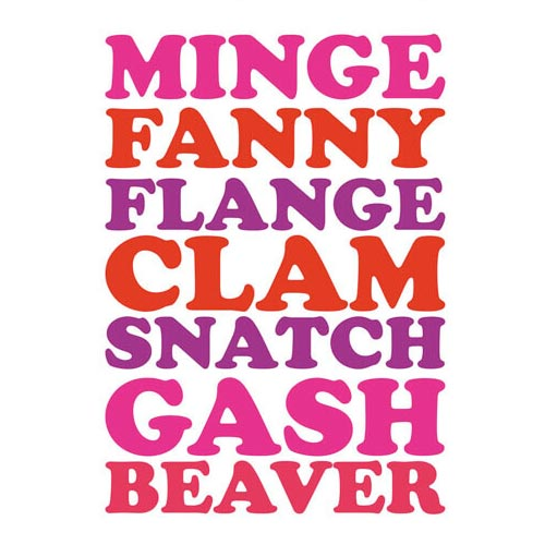Minge Fanny Flange Clam Snatch Gash Beaver - Birthday Card