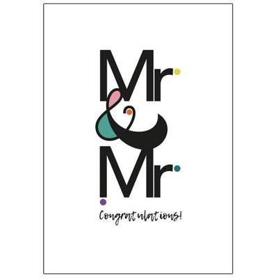 Mr & Mr Congratulations - Gay Wedding Card