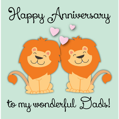 Happy Anniversary To My Wonderful Dads - Gay Anniversary Card