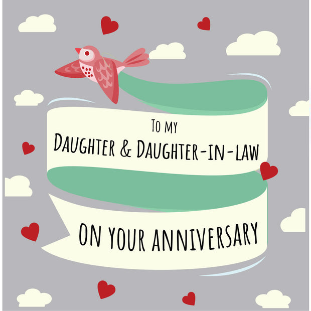 Daughter & Daughter-In-Law Anniversary - Lesbian Anniversary Card