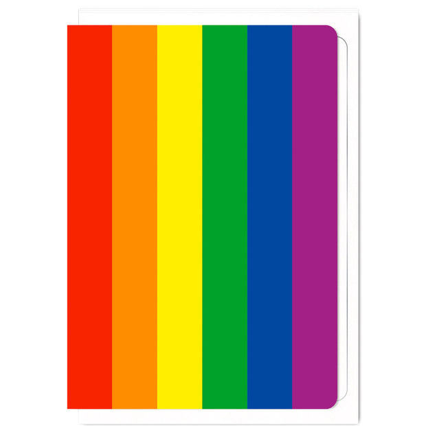 LGBTQ+ Rainbow Pride Flag - Greetings Card