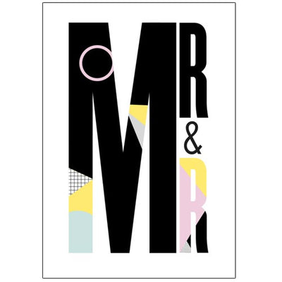 Mr & Mr - Gay Wedding Card
