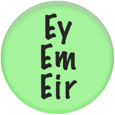 Pronoun Ey/Em/Eir Small Pin Badge (Green)