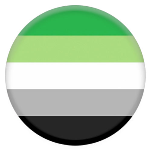 Aromantic Flag Small Pin Badge