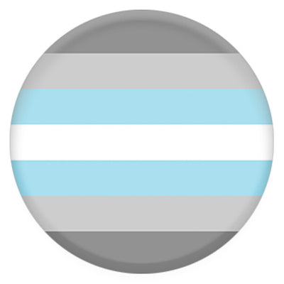 Demiboy Pride Flag Small Pin Badge