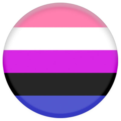 Genderfluid Flag Small Pin Badge