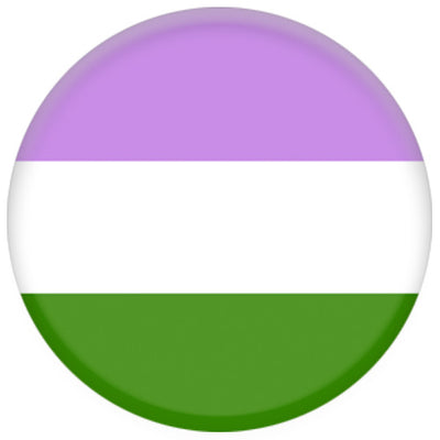 Genderqueer Flag Small Pin Badge