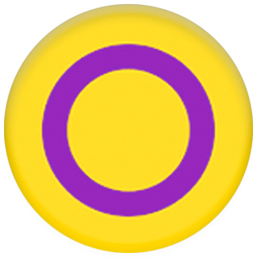 Intersex Pride Flag Yellow/Purple Small Pin Badge