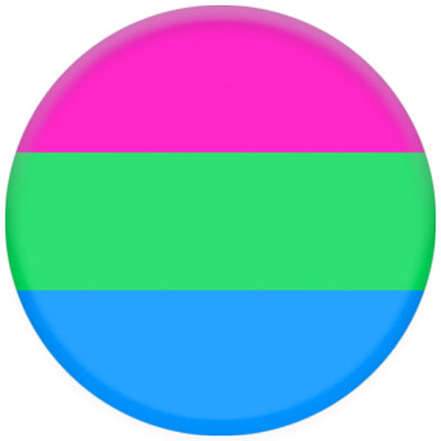 Polysexual Pride Flag Small Pin Badge