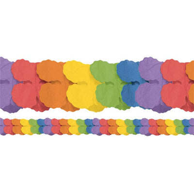 Rainbow Paper Garland Decoration (3.7m)