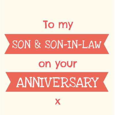 Son & Son-In-Law Anniversary - Gay Anniversary Card