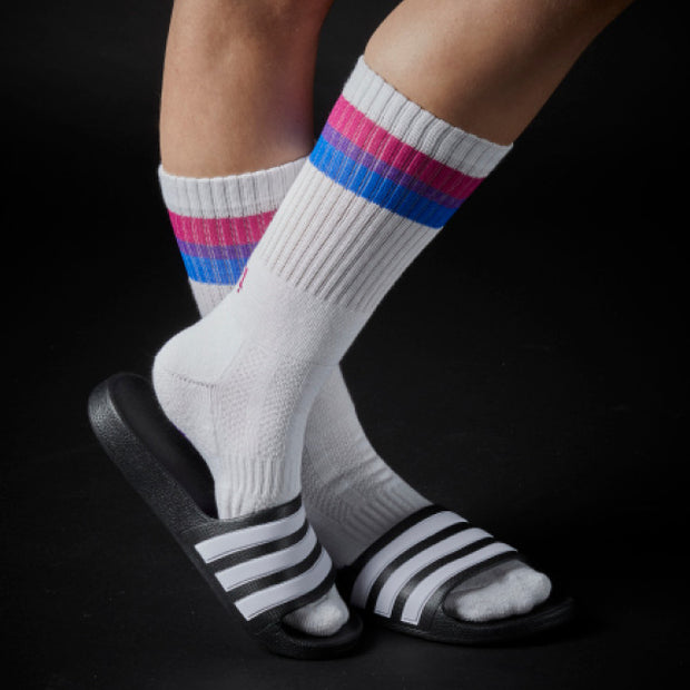 Athletic Fit Slider Socks - Bisexual Flag