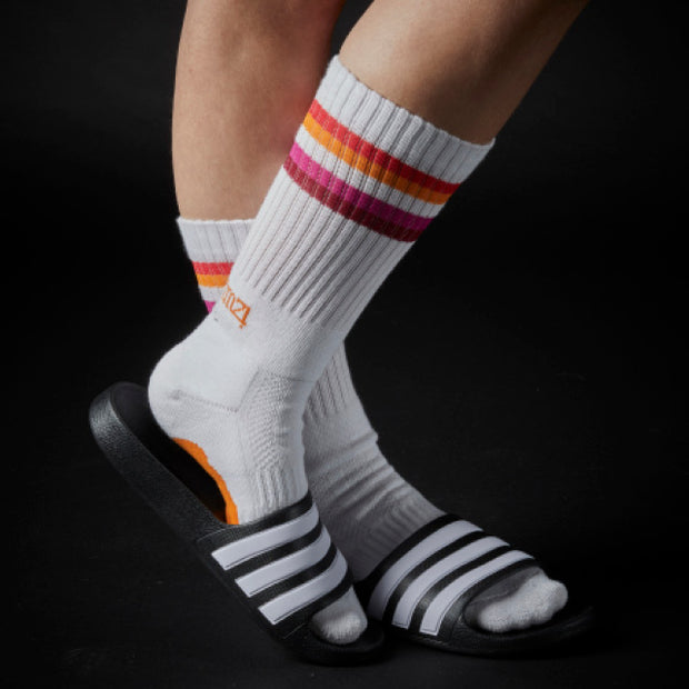 Athletic Fit Slider Socks - Lesbian Flag
