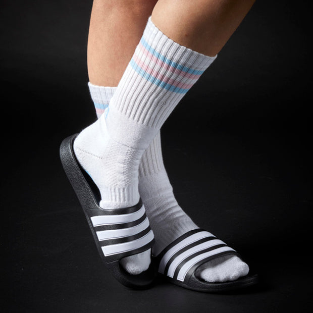 Athletic Fit Slider Socks - Transgender Flag