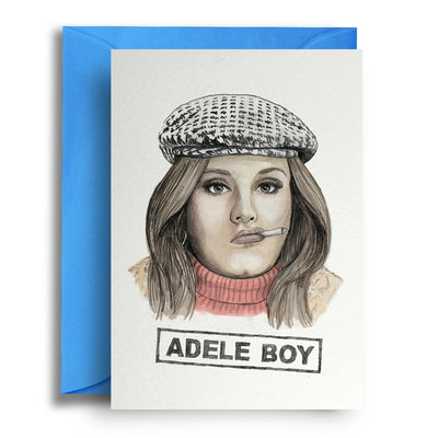 Adele Boy - Greetings Card