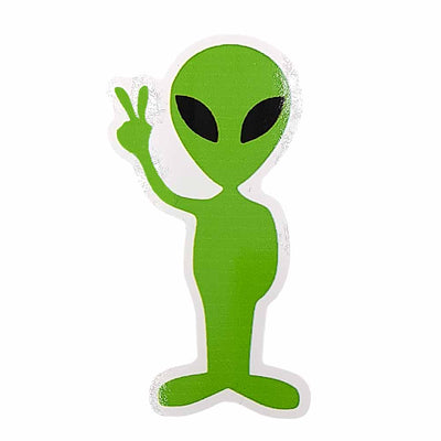 Alien Peace Sign Vinyl Waterproof Sticker