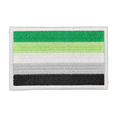 Aromantic Pride Flag Rectangular Embroidered Iron-On Festival Patch