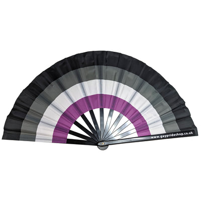 Asexual Flag Cracking Fan - Large 33cm
