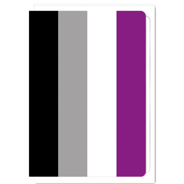 Asexual Pride Flag  - Greetings Card