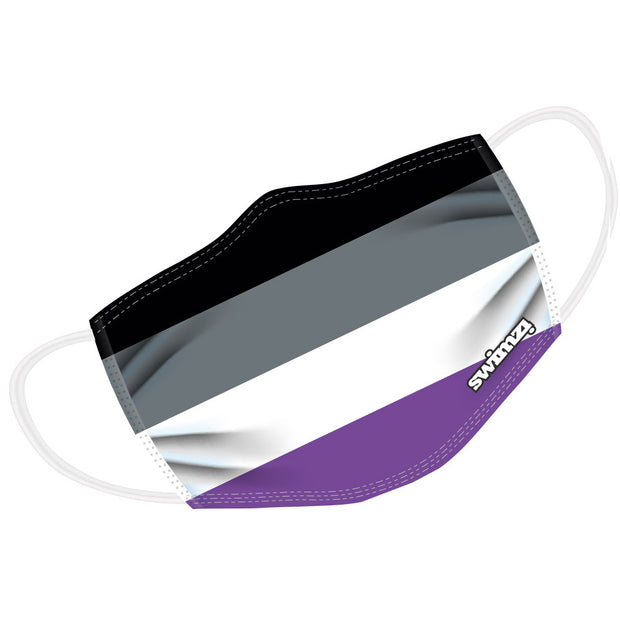 Asexual Flag Twin Layer Face Mask