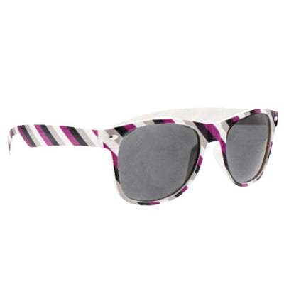 Asexual Flag Colours Wayfarer UV400 Sunglasses