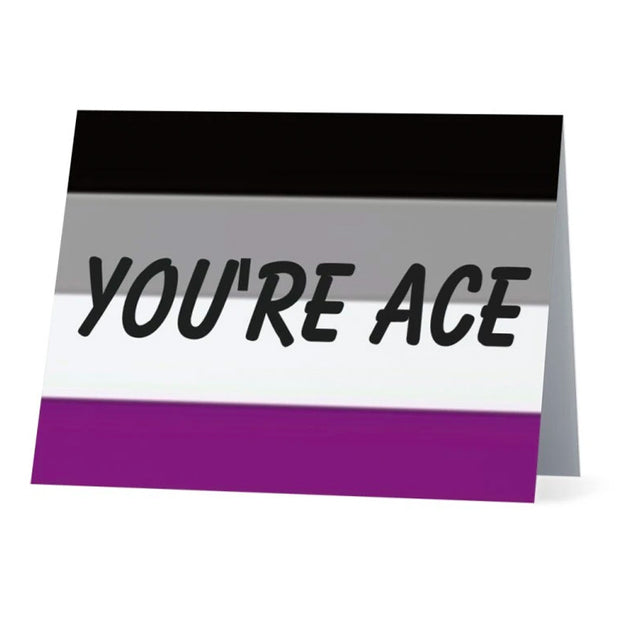Flag Card Asexual You're Ace Pride Flag - Greetings Card