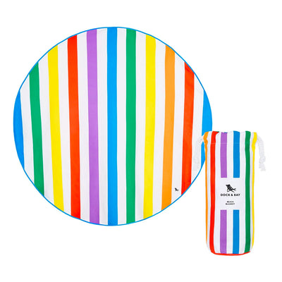 Gay Pride Rainbow Quick Dry Round Beach Blanket