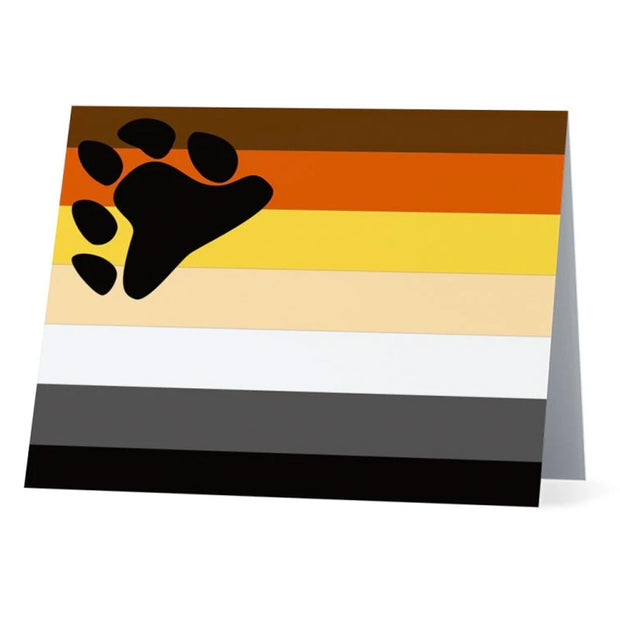 Flag Card Bear Pride Flag - Greetings Card