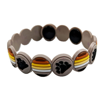 Bear Flag Colours Adjustable Silicone Bracelet