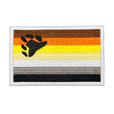 Bear Pride Flag Rectangular Embroidered Iron-On Festival Patch