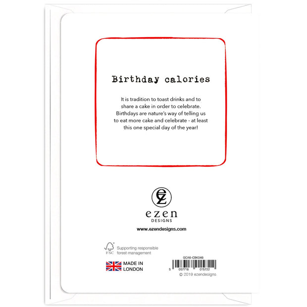 Birthday Calories Don't Count - Gay Birthday Card
