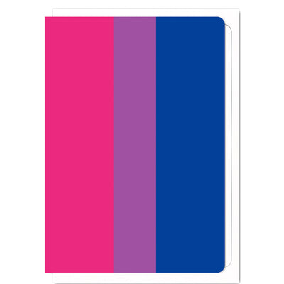 Bisexual Pride Flag  - Greetings Card