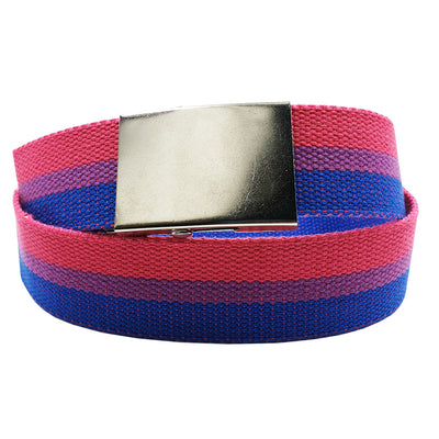 Bisexual Flag Canvas Belt