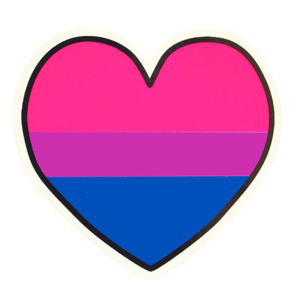 Bisexual Heart Vinyl Sticker