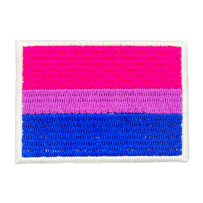 Bisexual Flag Rectangular Embroidered Iron-On Festival Patch